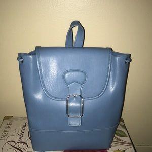 Handbags - Sky Blue Small Bucket Backpack